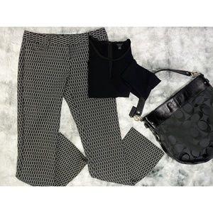 Express White Black Geometric Design Trousers